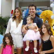 Rodrigo Faro comemora o aniversário de 1 ano de Helena, sua filha caçula, em SP
