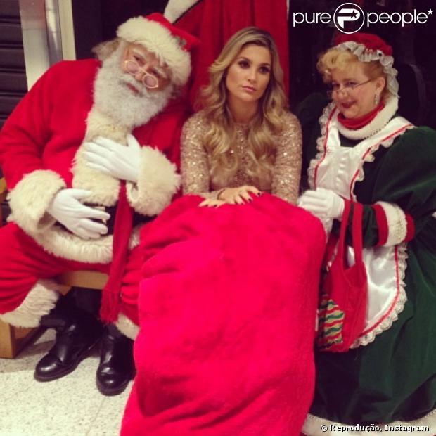 Flávia Alessandra  publicou uma foto e se mostrou  preocupada com a sua boa forma neste período de festas de fim de ano, em 23 de dezembro de 2013