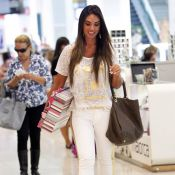 Nicole Bahls viaja a São Paulo para entrar no reality show 'Fazenda de Verão'