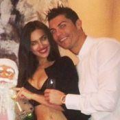 Cristiano Ronaldo brinda a chegada de 2014 com a namorada, a modelo Irina Shayk