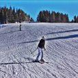 Ana Paula Siebert esquia em Colorados, nos Estados Unidos, onde passa férias com o namorado, Roberto Justus