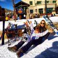 Ticiane Pinheiro leva Rafaella Justus para esquiar pela primeira vez em Colorado, nos Estados Unidos