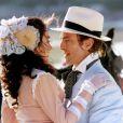 Gabriela Duarte e Carlos Alberto Riccelli na minissérie 'Chiquinha Gonzaga' (1999)