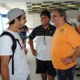 Caio Castro no Kart dos Artistas, em Santa Catarina, nesta sexta-feira, 10 de janeiro de 2014