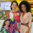 Para prestigiar Cinara Leal, atriz de 'Sol Nascente', em inauguração de quiosque de doces, Leticia Spiller foi acompanhada da filha, Stella Loureiro, de cinco anos