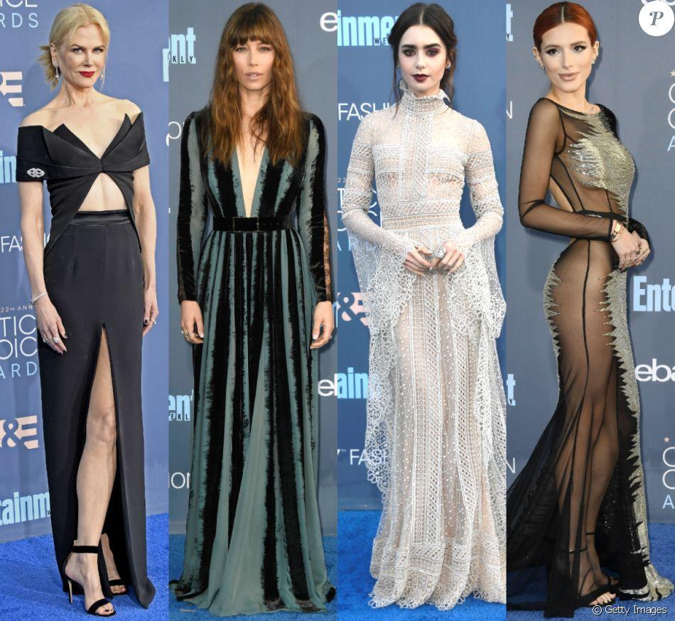 Veja fotos de Nicole Kidman, Jessica Biel, Lily Collins e mais famosas que apostaram em looks góticos no Critics' Choice Awards