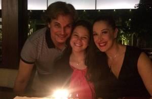 Claudia Raia e Edson Celulari comemoram juntos o aniversário da filha, Sophia