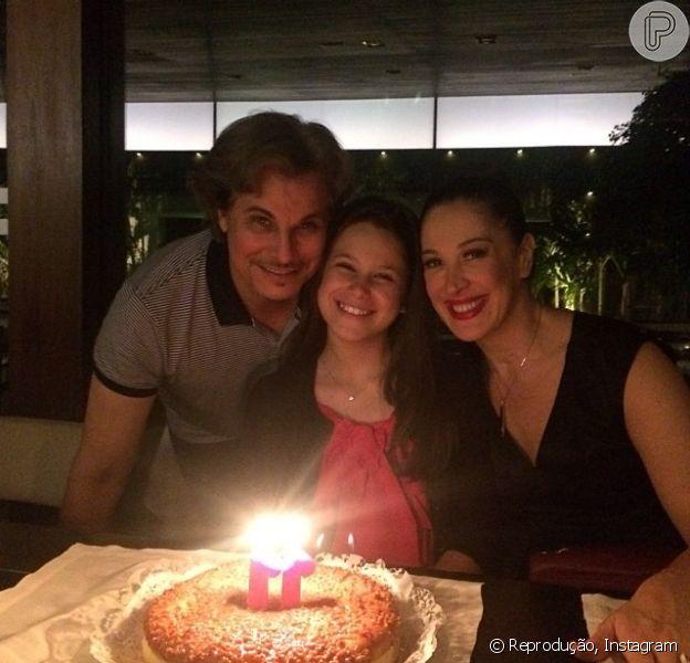 Sophia comemora o aniversário com os pais, Claudia Raia e Edson Celulari