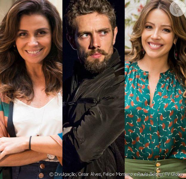 Alice (Giovanna Antonelli) vê Cesar (Rafael Cardoso) intimidar Sirlene (Renata Dominguez) na novela 'Sol Nascente', em 31 de dezembro de 2016
