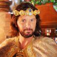 Adonizedeque (Mário Frias) fala sobre os hebreus em seu reino, Jerusalém, no capítulo desta quinta-feira, 22 de dezembro de 2016, da novela 'A Terra Prometida'