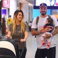 Os ex-BBBs Aline Gotschalg e Fernando Medeiros são pais do pequeno Lucca, de sete meses