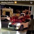 Wesley Safadão ganha carro de R$110 mil da mulher, Thyane Dantas, na madrugada deste domingo, dia 25 de dezembro de 2016