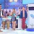 Wanessa recebeu o sertanejo Gusttavo Lima no programa 'Domingo da Gente'