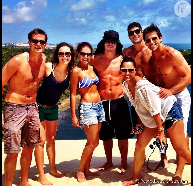 Max Fercondini, Amanda Richter, Paloma Bernardi, Thiago Martins, Dudu Azevedo, Henri Castelli e Thaíssa Carvalho vivem dia de turista em Natal, no Rio Grande do Norte