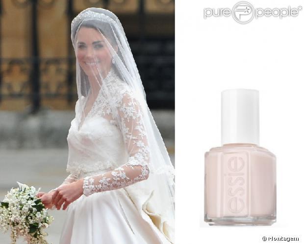 Kate Middleton usou o semitransparente Allure da linha de esmaltes Essi em  seu casamento com príncipe 750891f6a9