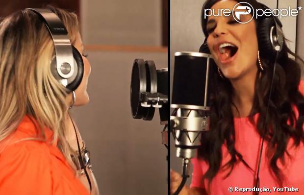 Claudia Leitte e Ivete Sangalo não gravaram juntas, mas aparecem lado a lado em clipe (28 de janeiro de 2014)