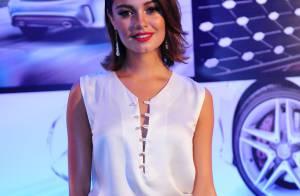 Sophie Charlotte aposta em look luxuoso para prestigiar evento da Mercedes-Benz