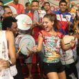 A torcida para que Paloma Bernardi vire rainha de bateria da Grande Rio não é pequena