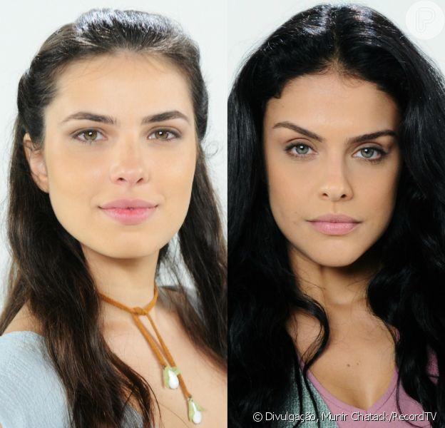 Aruna (Thais Melchior) e Samara (Paloma Bernardi) são atacadas pelos soldados cananeus, no capítulo desta sexta-feira, 3 de fevereiro de 2017, da novela 'A Terra Prometida'