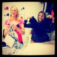 Ticiane Pinheiro e Ana Hickmann mostram roupas para gestantes em gravação do 'Programa da Tarde'