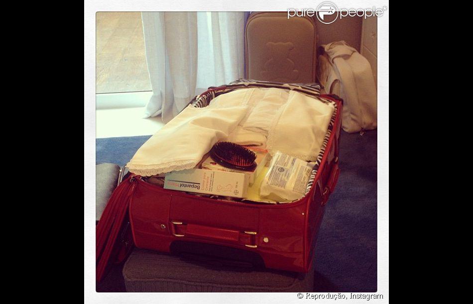 Ana Hickmann faz os últimos preparativos para o nascimento de Alexandre, em 13 de fevereiro de 2014: 'Cada dia que passa a emoção dentro do meu coração cresce. Todos os dias entro no quarto dele e fico imaginando como será os nossos primeiros minutos juntos'