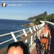 Grazi Massafera se diverte ao pedalar com Anna Lima: 'Gosta de endorfina'. Vídeo