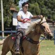 Rodrigo Simas também passou por longa preparação para a novela 'Novo Mundo'. O ator fez aulas de etiqueta, espada e equitação