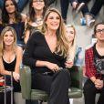 A apresentadora Rafa Brites usou look confortável durante a gravidez