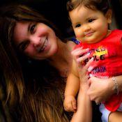 Miguel, neto de Cristiana Oliveira, completa seu primeiro aniversário