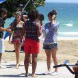 Giovanna Antonelli se arruma antes das gravações de 'Em Família'