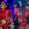 Anitta esbanjou sensualidade ao usar fio-dental no tradicional Baile da Vogue, na madrugada desta sexta-feira, 17 de fevereiro de 2017
