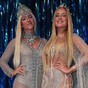 Claudia Leitte x Giovanna Ewbank: perucas platinadas e looks parecidos em baile