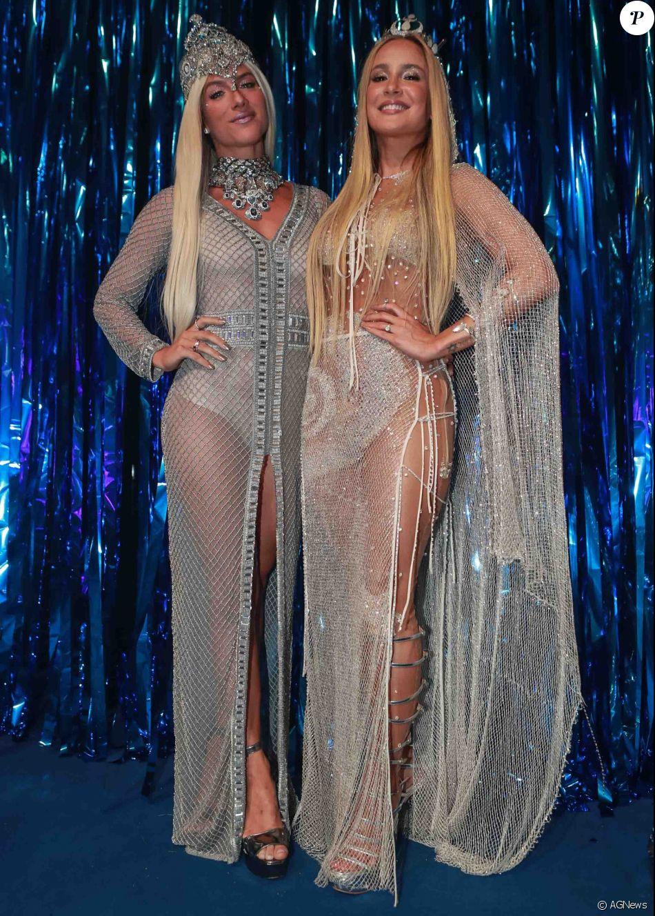 Giovanna Ewbank e Claudia Leitte chamam a atenção por usarem looks parecidos no baile da Vogue, que aconteceu na noite desta quinta-feira, 16 de fevereiro de 2017
