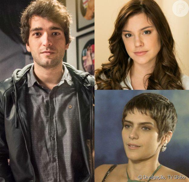 Tiago (Humberto Carrão) tem sonho erótico com Marina (Alice Wegmann) enquanto dorme ao lado de Letícia (Isabella Santoni), na novela 'A Lei do Amor'