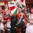 Paloma Bernardi e Luciana Gimenez caem no samba na feijoada da Grande Rio, no hotel Royal Tulip