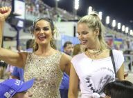Carnaval: Luiza Brunet vai a ensaio técnico da Imperatriz com a filha, Yasmin