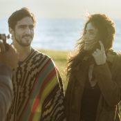 Veja fotos de Maria Casadevall e Renato Góes em gravação de série no Chile
