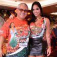 Ex-BBB Mayara posa com Jayder, presidente da Acadêmicos da Grande Rio