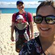 Michel Teló e Thais Fersoza viajaram para o Caribe e seguiram para Orlando, onde passaram seis horas na Macrobaby