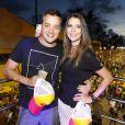 Rafael Cortez e a namorada, Adriana, estão juntos há um ano e seis meses