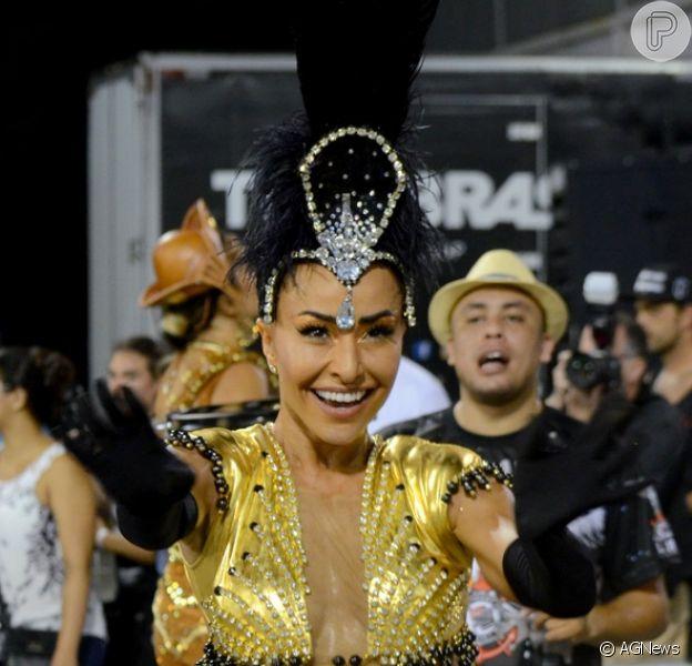 Sabrina Sato é outra famosa que brilhará no Rio e também em São Paulo. No carnaval paulistano, a apresentadora é madrinha de bateria da Gaviões da Fiel
