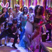 Elenco de 'Sol Nascente' grava cenas de baile de carnaval fantasiado. Fotos!