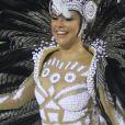Rainha de bateria da Grande Rio, Paloma Bernardi usou fantasia com pouca transparência na Sapucaí neste domingo, 26 de fevereiro de 2017