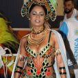 Musa da Vila Isabel, Lexa apostou em uma fantasia com pedrarias e multicolorida