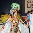 Lexa estreia no Carnaval sem o noivo, Mc Guimê e conta que ele não viu a roupa do desfile em entrevista ao Purepeople nesta segunda-feira, dia 27 de fevereiro de 2017