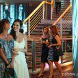 Marina (Tainá Müller) convida Clara (Giovanna Antonelli) para almoçar com ela, na novela 'Em Família'