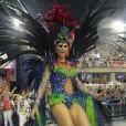 Julianne Trevisol desfilou com fantasia de Beija-Flor, representando a fase de Ivete Sangalo na Banda Eva, em 26 de fevereiro de 2017