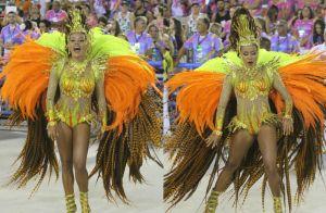 Caçula entre rainhas, Raphaela Gomes, da São Clemente, supera tombo: 'Foi lindo'