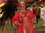 Carnaval: musa da Mangueira levou 6 horas para pintar corpo. 'Nua e confortável'