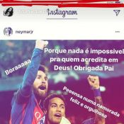 Bruna Marquezine exalta Neymar após jogo do Barcelona: 'Namorada orgulhosa'